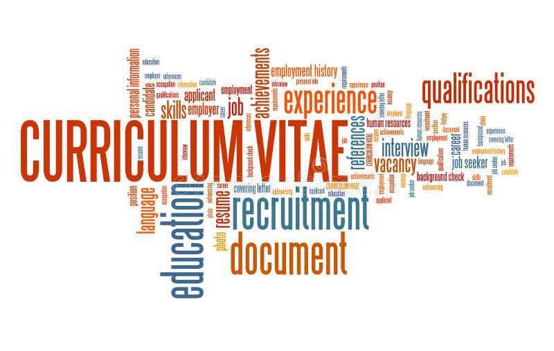 CV da carreira ilustração do vetor