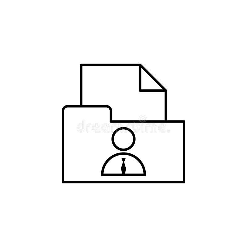 Cv, dossier, icône d'homme d'affaires sur le fond blanc Peut être employé pour le Web, logo, l'appli mobile, UI, UX illustration de vecteur