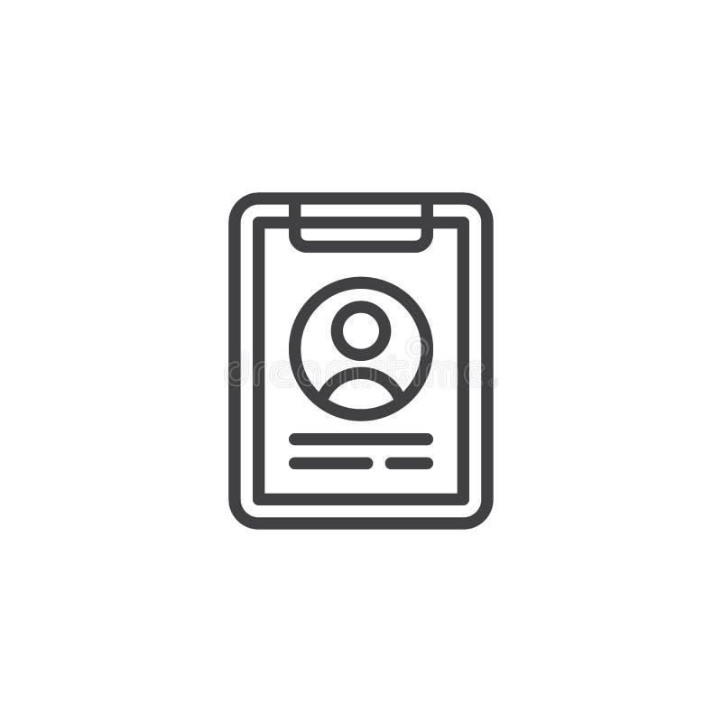 CV-formlinje symbol vektor illustrationer