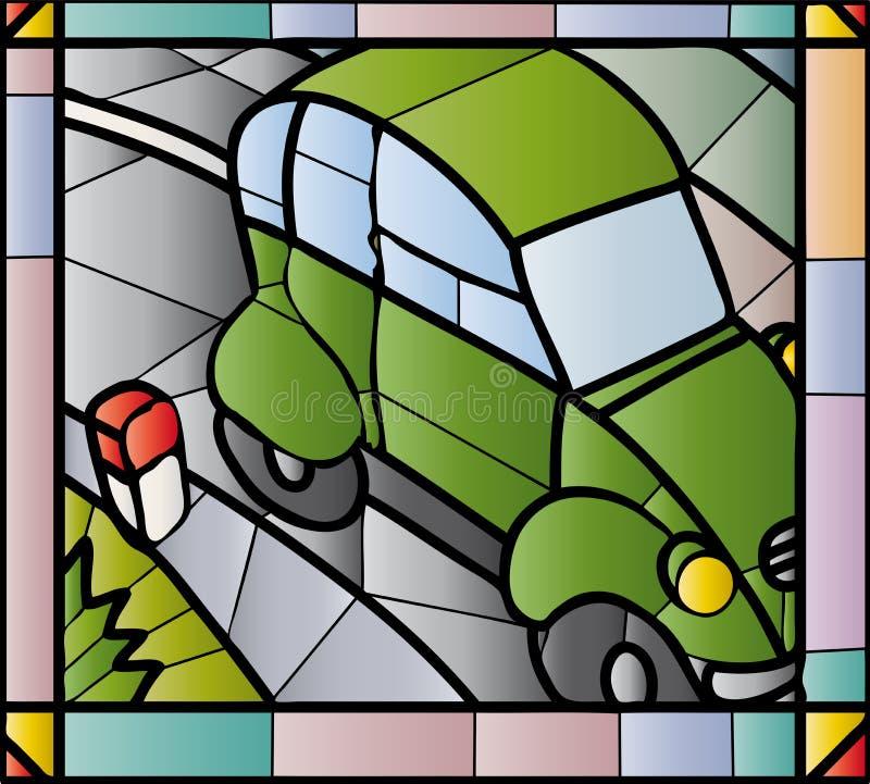2cv gebrandschilderd glas vector illustratie