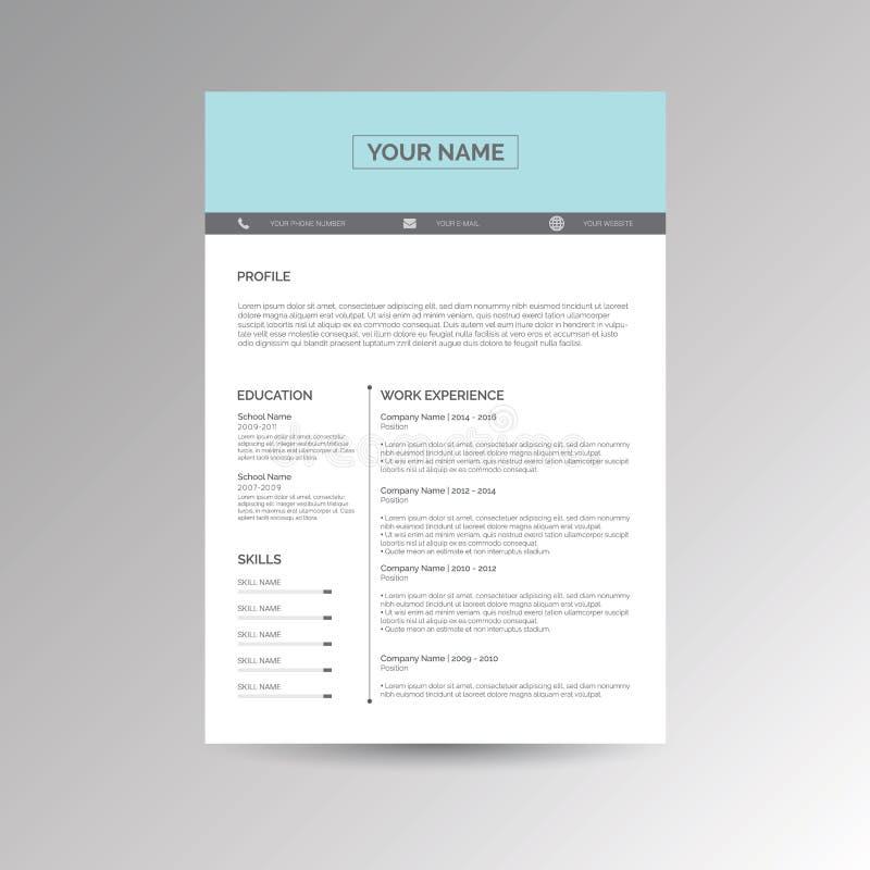 Cv/hervat malplaatje royalty-vrije illustratie