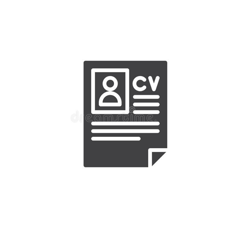 Cv hervat pictogramvector royalty-vrije illustratie