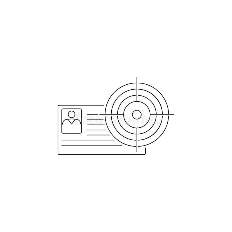 Cv in het gezichtspictogram Element van hoofd de jachtpictogram Het grafische ontwerp van de premiekwaliteit Tekens, de inzamelin vector illustratie