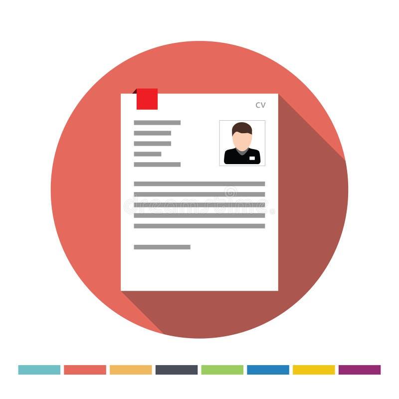 CV ikona ilustracji