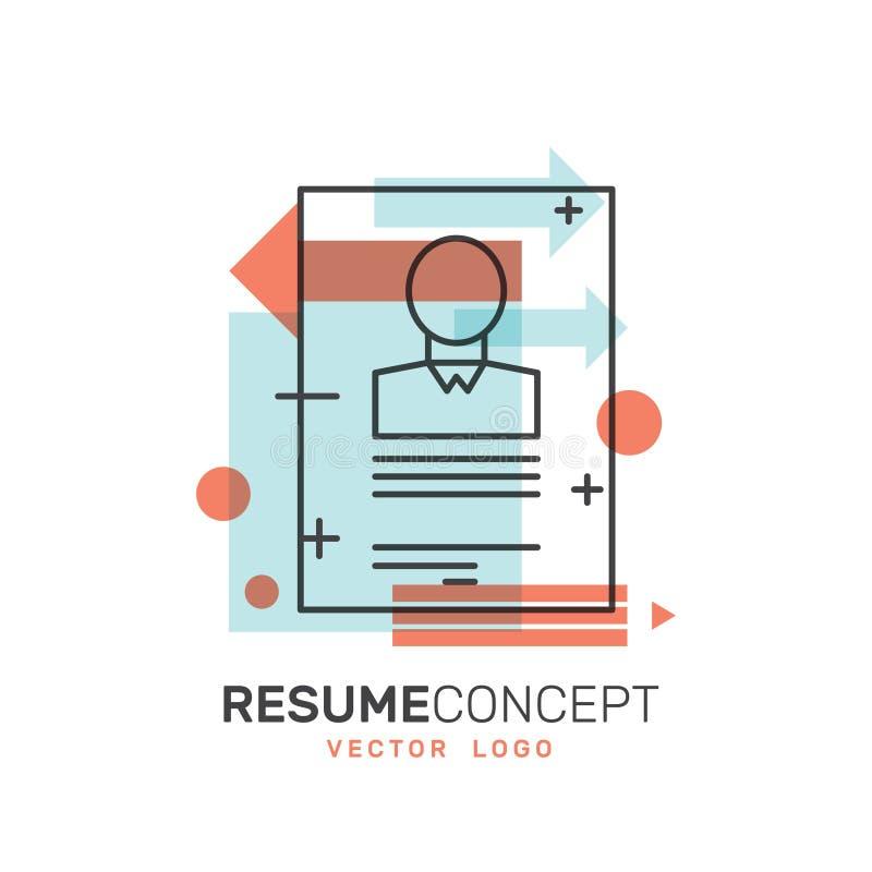 CV Job Application Concept stock illustrationer
