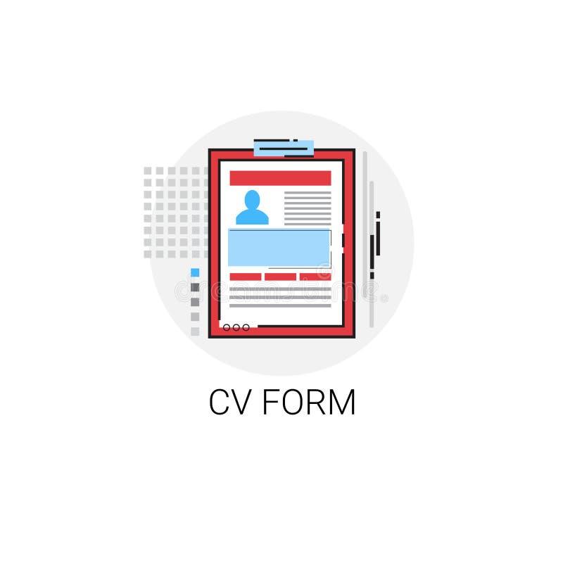 Cv From Job Vacancy Recruitment Application Icon Stock Vector