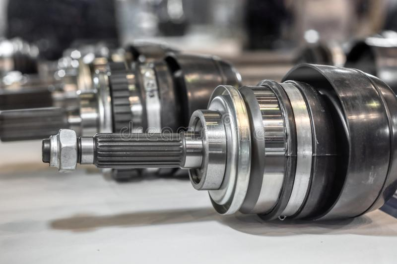 CV joint, one of the most important parts of the automotive suspension stock image