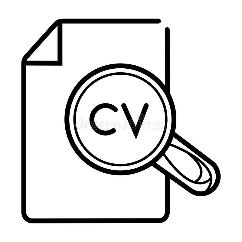 CV-meritförteckningdokument stock illustrationer