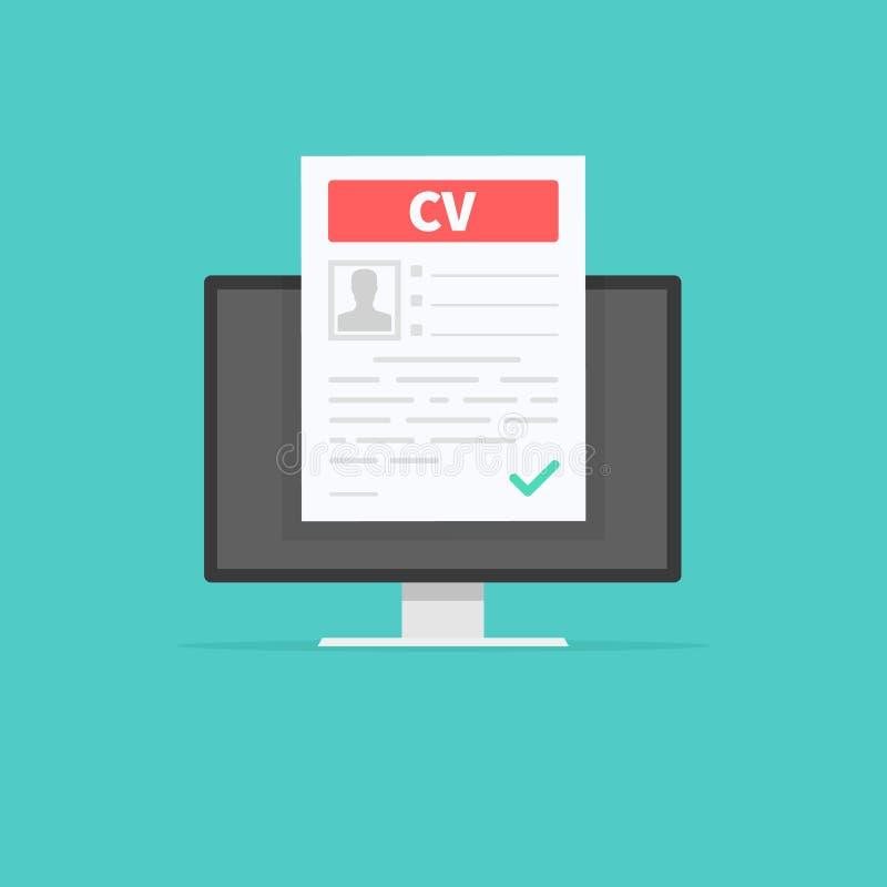 CV resume. Job interview concept. Employment, hiring concepts. Modern flat design for web banners, web sites. Infographic. Flat cartoon design, vector vector illustration