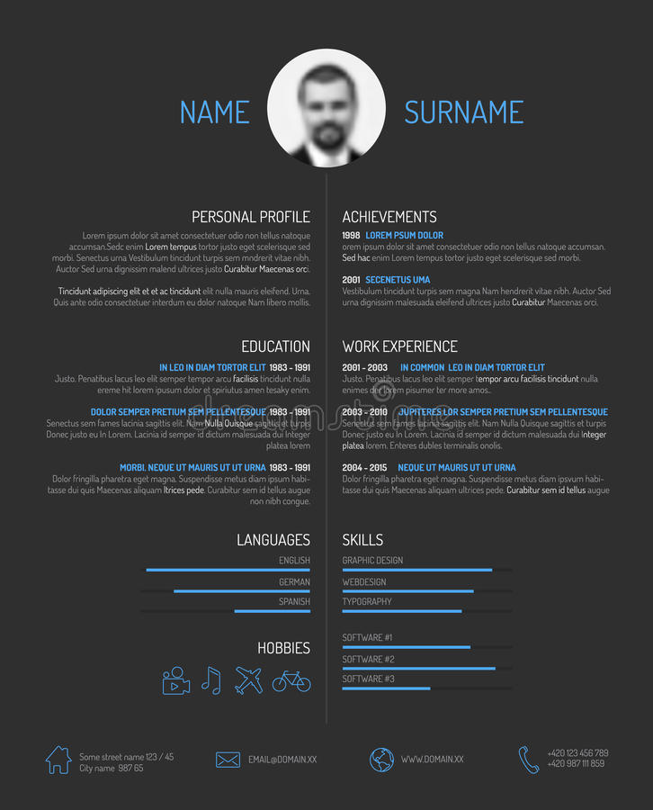 Free Cv / Resume Template Royalty Free Stock Image - 50594056
