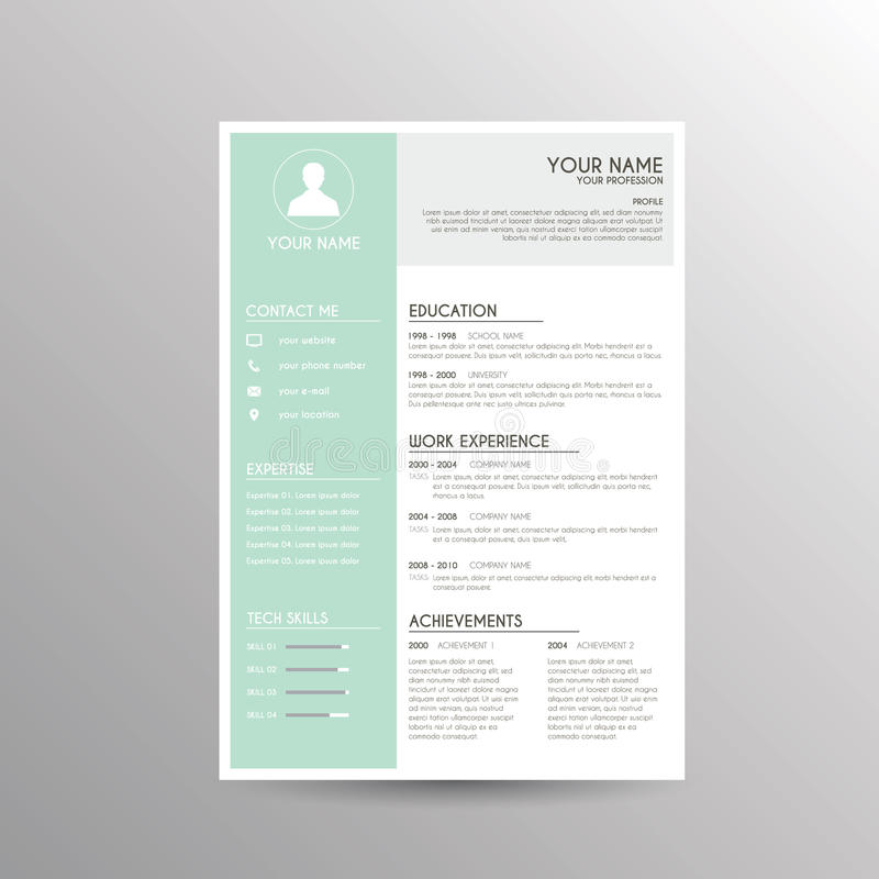 CV / Resume template vector illustration