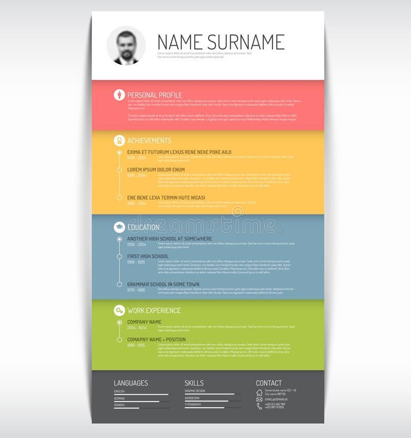 Cv / resume template. Vector minimalist cv / resume template vector illustration