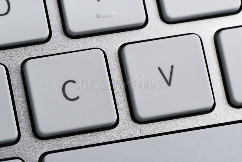 CV stands for Curriculum Vitae royalty free stock photo