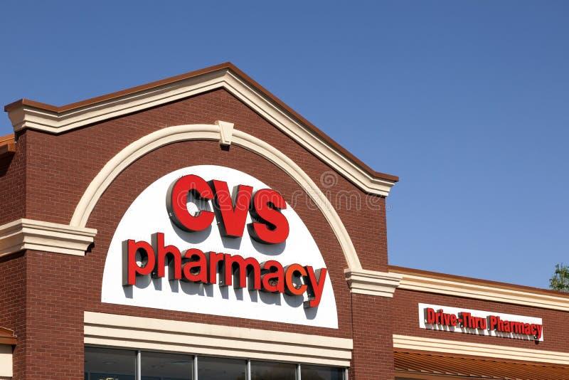CVS药房商店在沃思堡, TX,美国 免版税库存照片