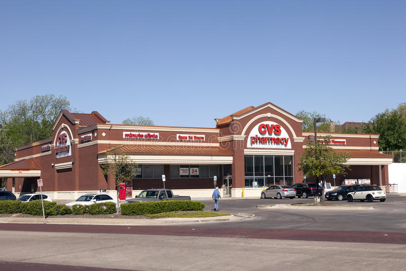 CVS药房商店在沃思堡, TX,美国 库存照片
