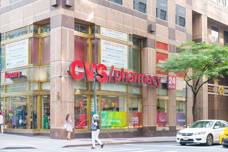 CVS药房零售地点 CVS是最大的药房链子在美国VI 免版税库存照片