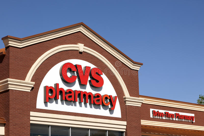 CVS-Apotheekopslag in Fort Worth, TX, de V.S. royalty-vrije stock foto's