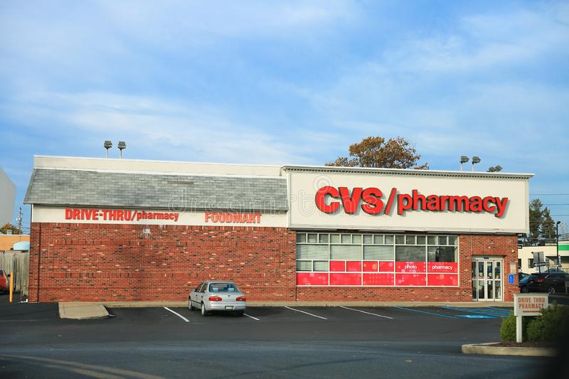 CVS-Apotheken-Einzelhandels-Standort stockbild