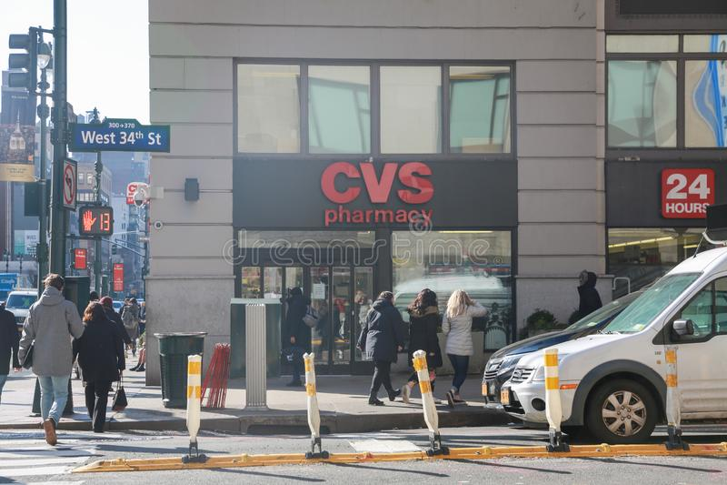 CVS-Apotheken-Einzelhandels-Standort CVS ist die größte Apotheken-Kette in den US VI stockfotografie