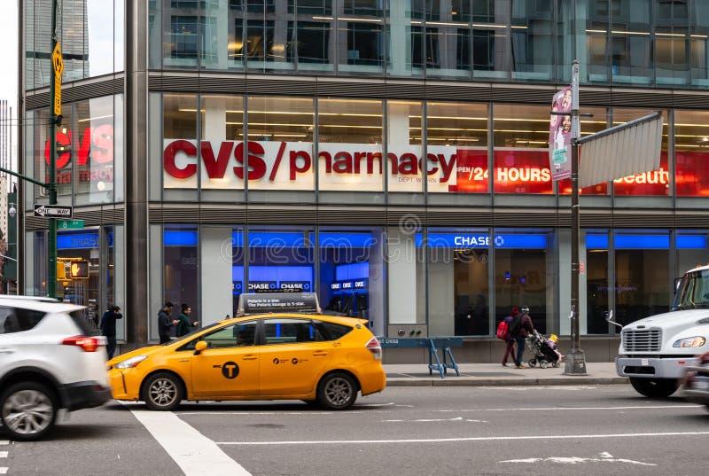 CVS Apotheken- und Chase Bank-Front stockfotografie