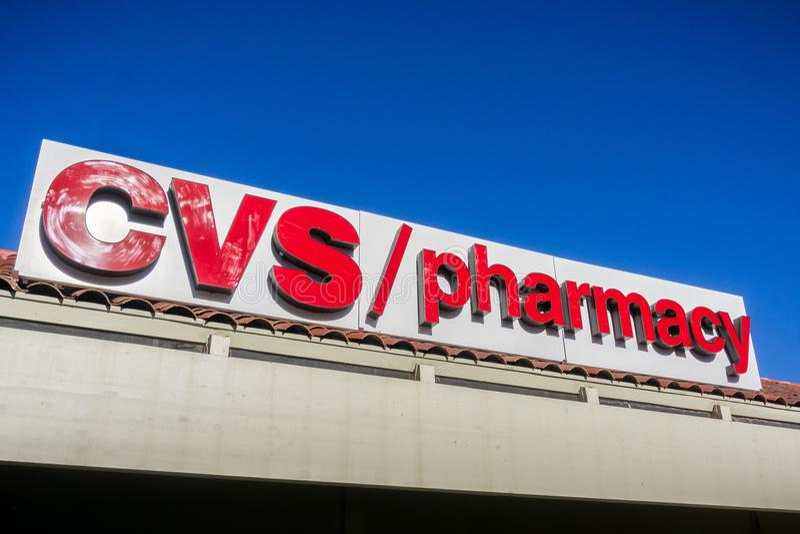 CVS/Apothekenlogo stockbilder