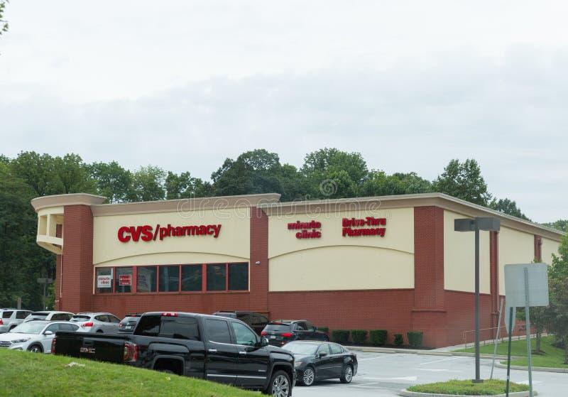 CVS apteki handlu detalicznego lokacja CVS jest Wielkim apteki łańcuchem w USA VI fotografia royalty free