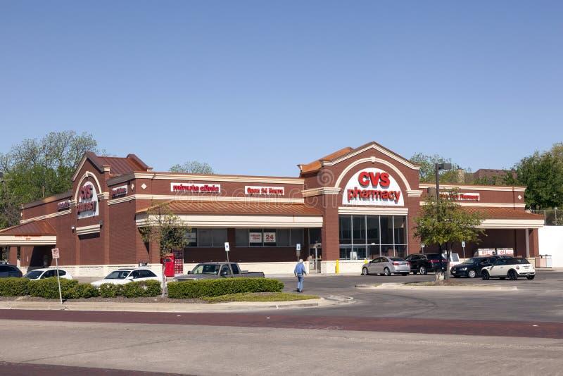 CVS apteki sklep w Fort Worth, TX, usa zdjęcie stock
