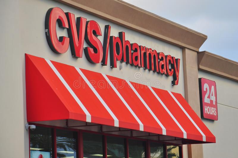 CVS Pharmacy store. CVS/pharmacy is the largest pharmacy chain in the United States by number of locations and total prescription revenue stock images