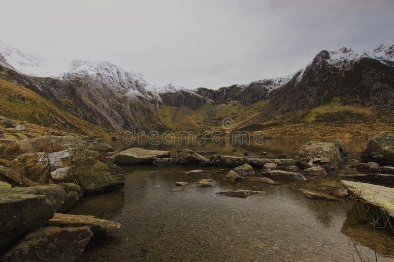 Cwm Idwal jäkelkök Snowdonia norr Wales royaltyfria foton