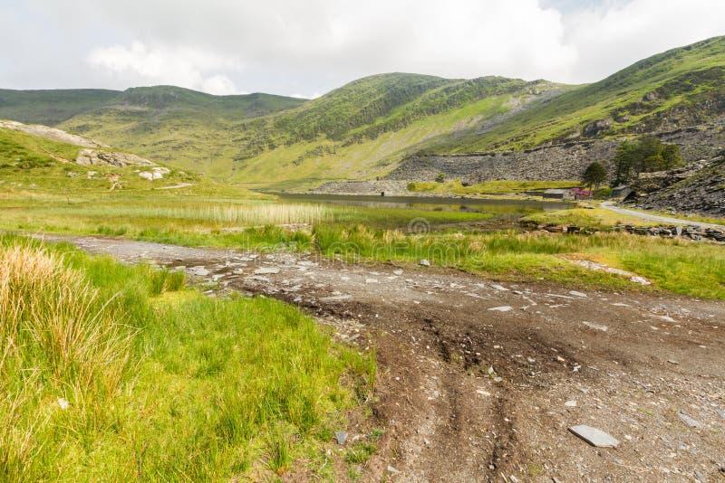 Cwmorthin, wisząca dolina w Północnym Walia fotografia stock