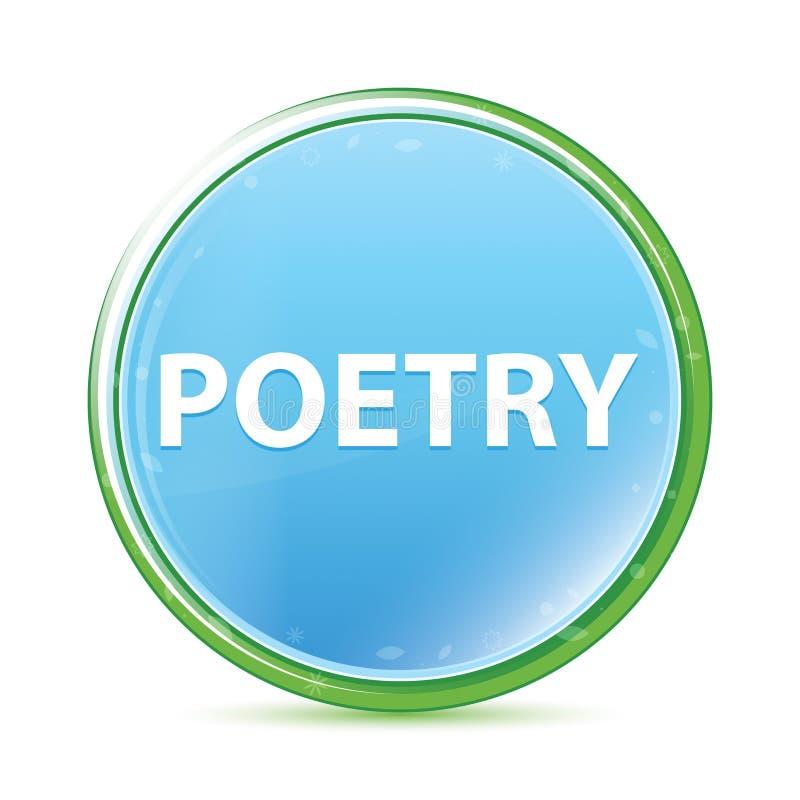 Cyaan blauwe ronde knoop van poëzie de natuurlijke aqua royalty-vrije illustratie