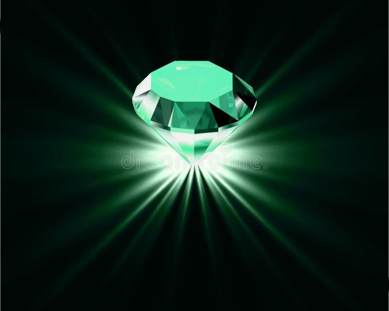 Heldere diamant. Vector stock illustratie