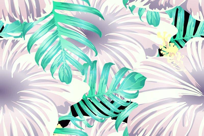 Cyaan exotisch patroon stock illustratie