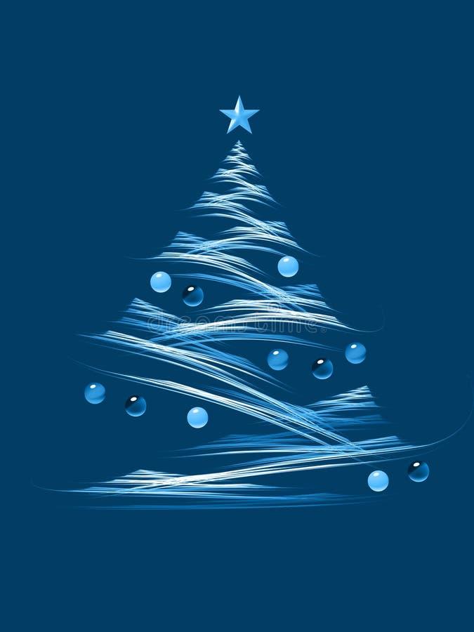 Cyaan Kerstmisboom stock illustratie