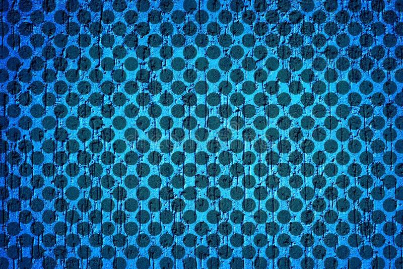 Cyaanpleistermuur in vorm van regendruppelsvignetting textuur stock illustratie