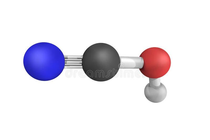 Cyaanzuur, een isomeer van Isocyanic zuur, een organische verbinding wh stock fotografie