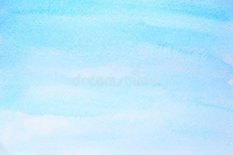 Cyan голубая предпосылка конспекта акварели иллюстрация штока