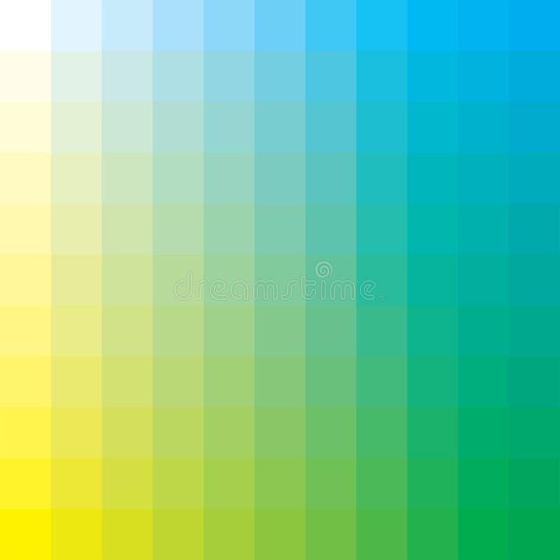 Cyan-blau und gelb vektor abbildung