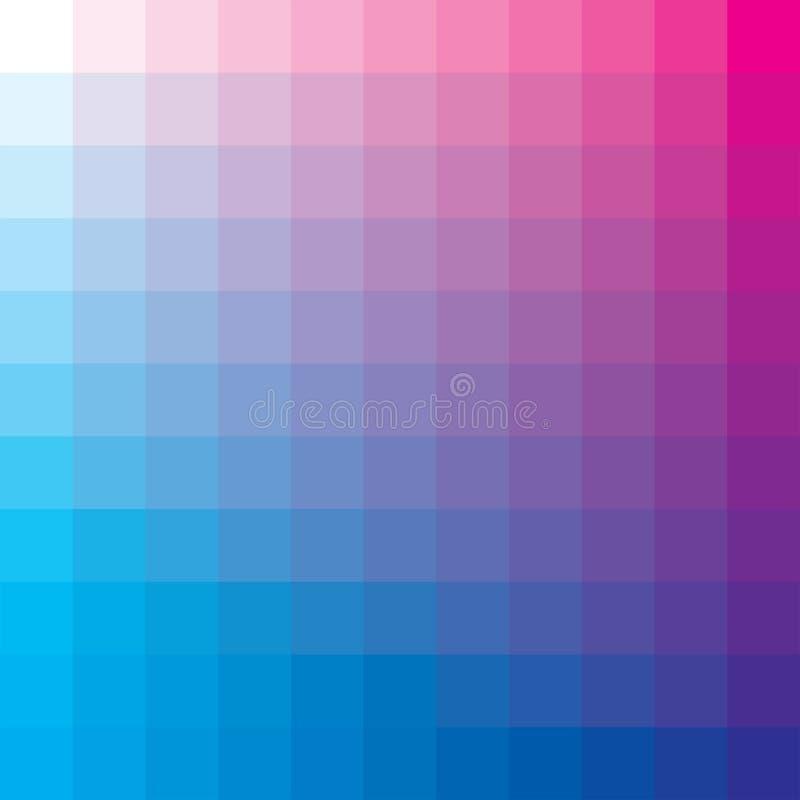 Cyan-blau und magentarot lizenzfreie abbildung