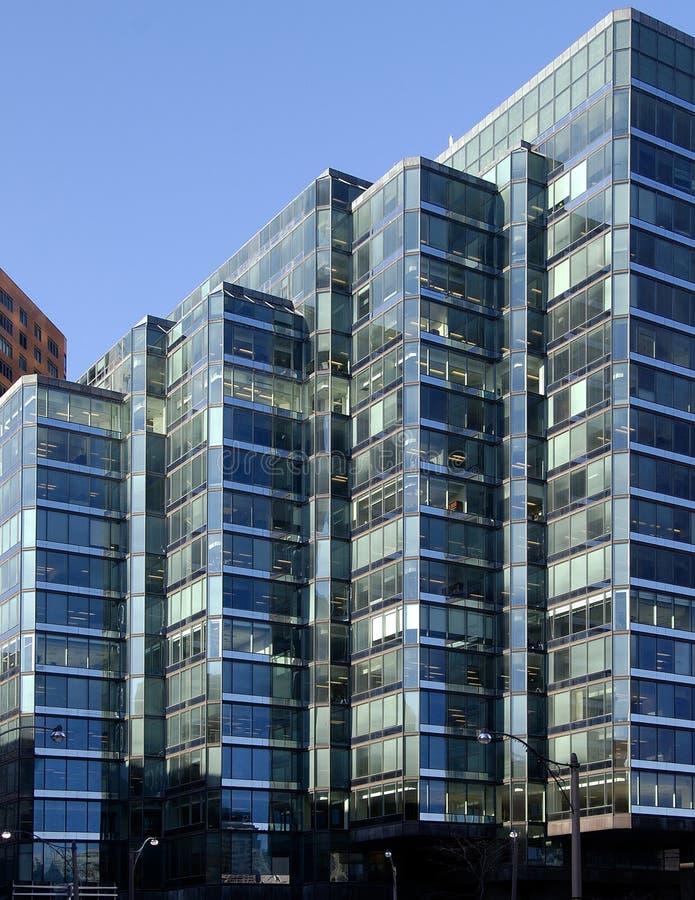 Cyan-blaue Gebäude stockfotografie