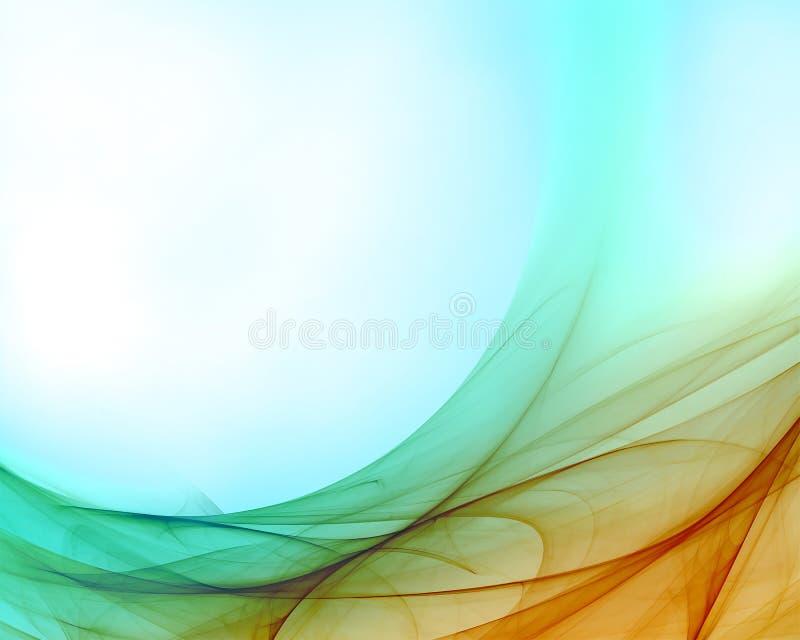Cyan-blaue orange Auslegung vektor abbildung