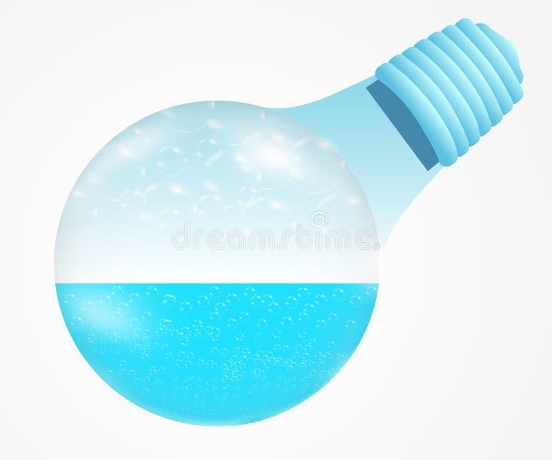 Cyan-blaue OzeanGlühlampe vektor abbildung