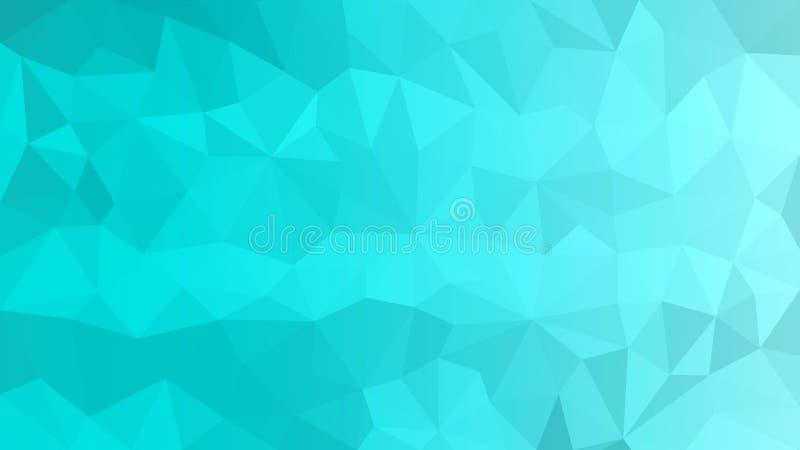 Cyan-blaue polygonale Beschaffenheit für abstrakten Hintergrund lizenzfreies stockbild