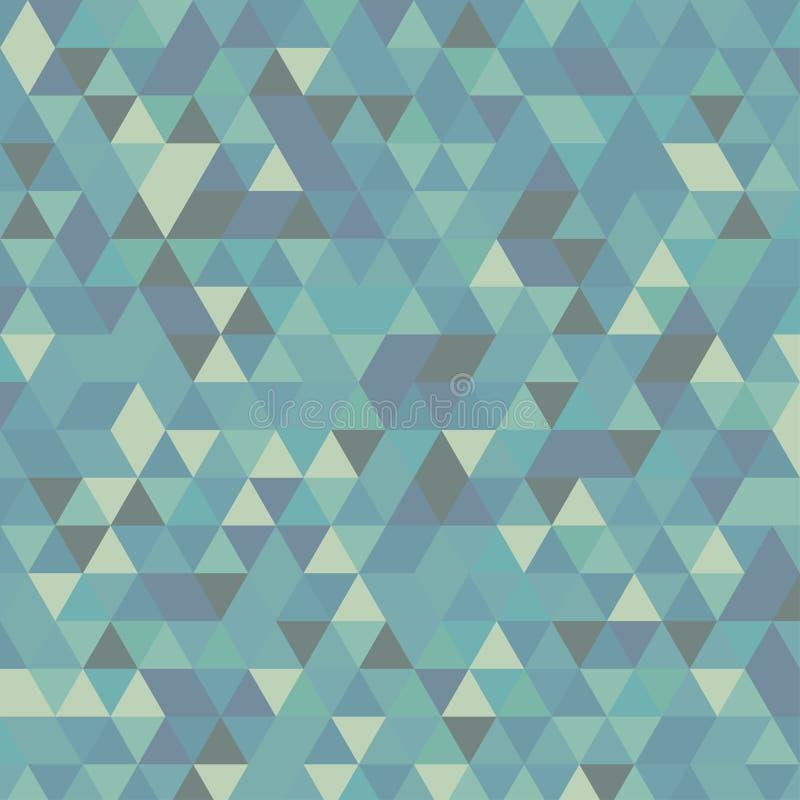 Cyan-blauer geometrischer dreieckiger Illustrationsgraphikmehrfarbenhintergrund Polygonales Design des Vektors stock abbildung