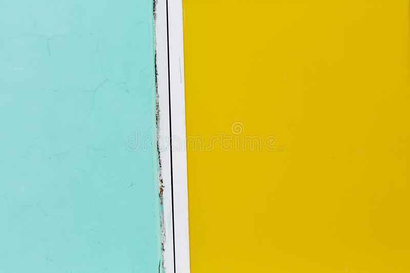 Cyan-blauer und gelber Farbhintergrund stockfoto