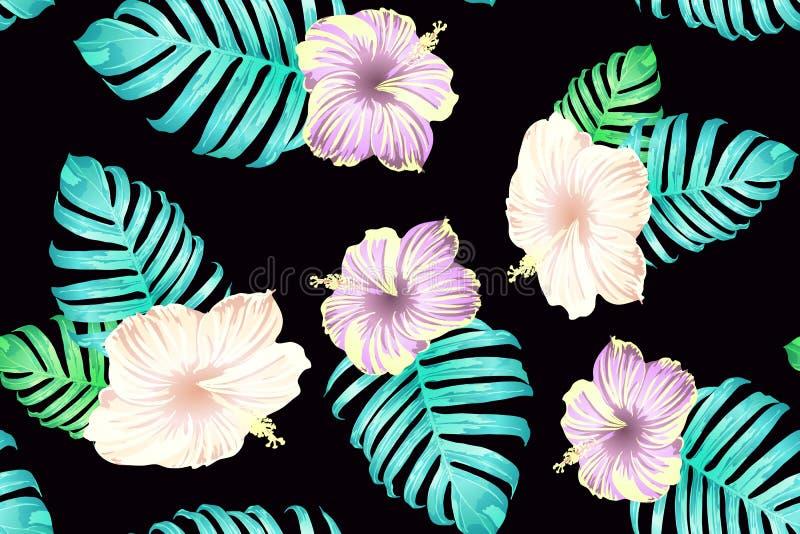 Cyan-blaues exotisches Muster stock abbildung
