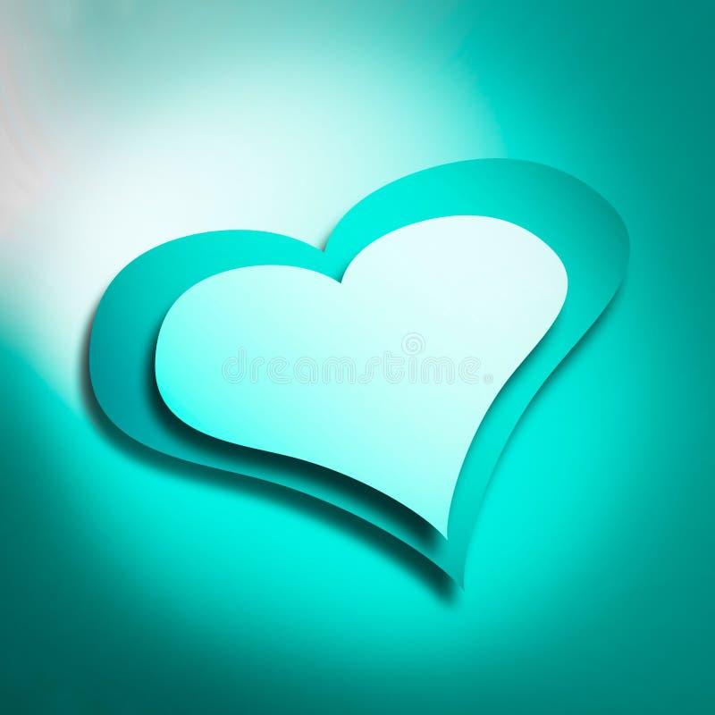 Cyan-blaues Herz lizenzfreie stockfotos