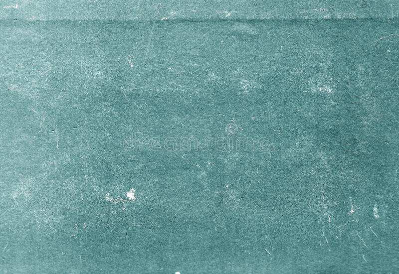 Cyan color scratched paper texture. royalty free stock image