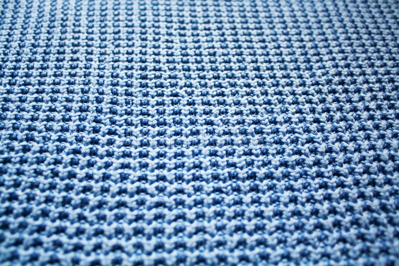Cyan cloth with ribbed stitches royalty free stock images