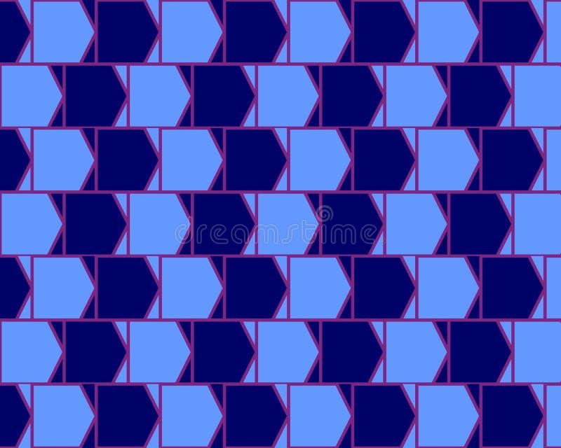 Cyan de mur de café d'illusion optique et bleu variables illustration stock